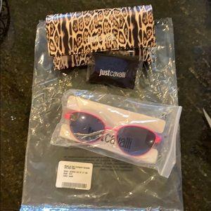 Italian Designer JustCavalli hot pink sunglasses.